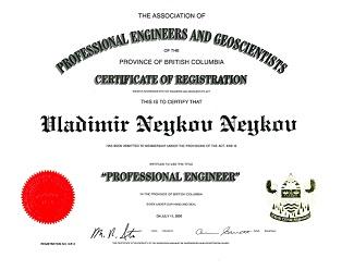 Professional Engineer license
